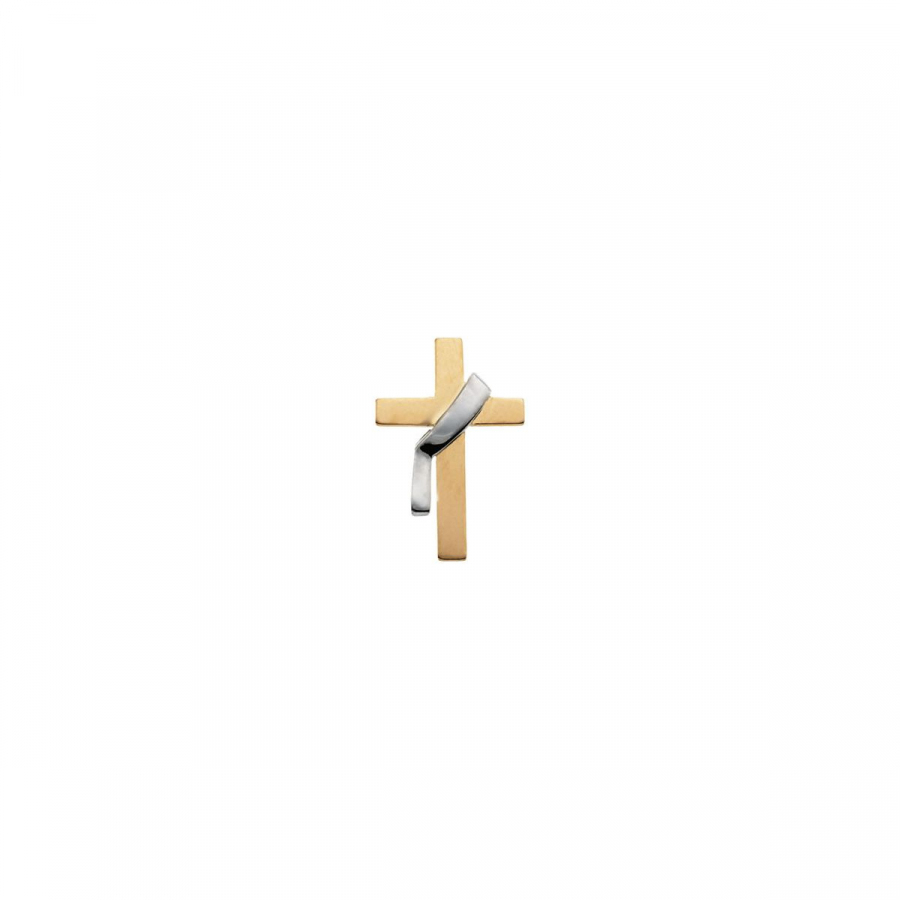 Deacon's Cross Lapel Pin R16712 / 14Kt Yellow/White / 22....
