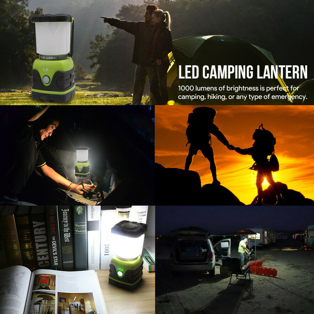 Outdoor LED Lantern 1000lm Dimmable Battery Powered Water Resistant Camping Tent
