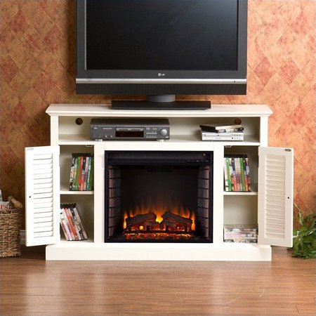 Southern Enterprises Savannah Media Electric Fireplace in Antique White - image 7 of 11