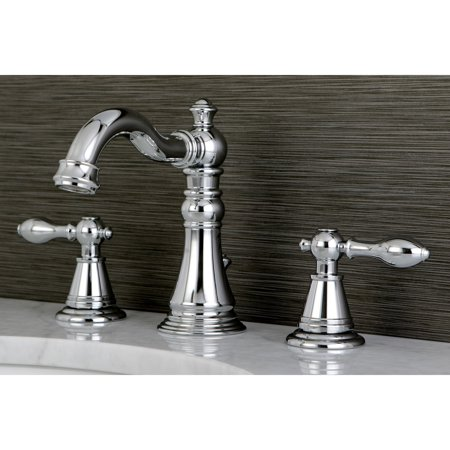 (Kingston Brass Classic Widespread Polished Chrome Bathroom Faucet)