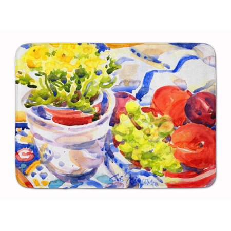 Apples, Plums and Grapes with Flowers Machine Washable Memory Foam - Foam Apples