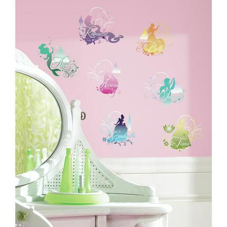 Wall Decal Disney Princess Silhouette Peel Stick