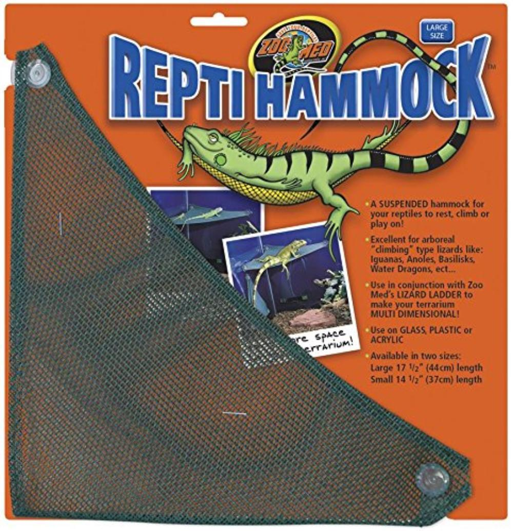 Mesh Reptile Hammock, 17.5-Inch, Perfect with Reptile Ladder By Zoo Med by