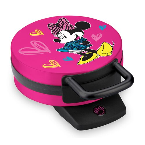 Disney Minnie Mouse Pink Waffle Maker, 1 Each