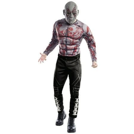 Guardians Of The Galaxy Vol. 2 Mens Deluxe Drax Adult Muscle Chest Costume - Men Adult Costumes