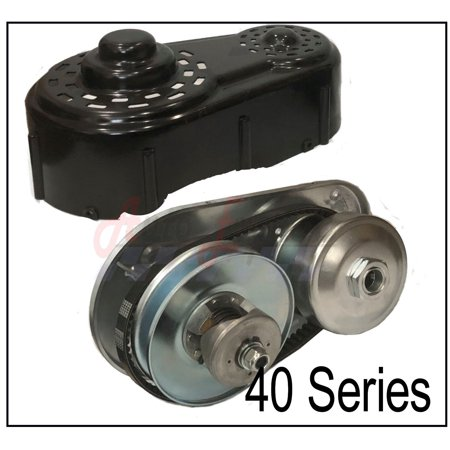 40 Series Go Kart Torque Converter Kit With Driver Clutch, Driven Pulley, Jackshaft and Backing Plate 8 to 16