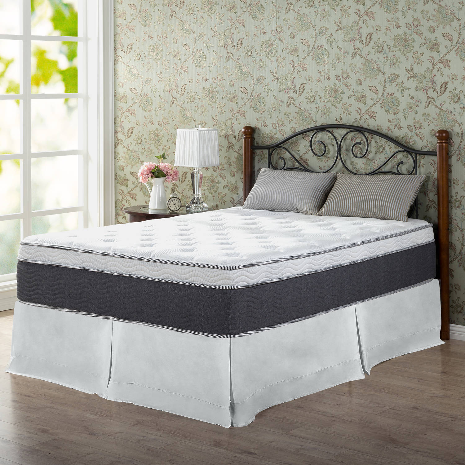 Slumber 1 by Zinus 13.5 Inch Adaptive Euro Top Spring Mattress