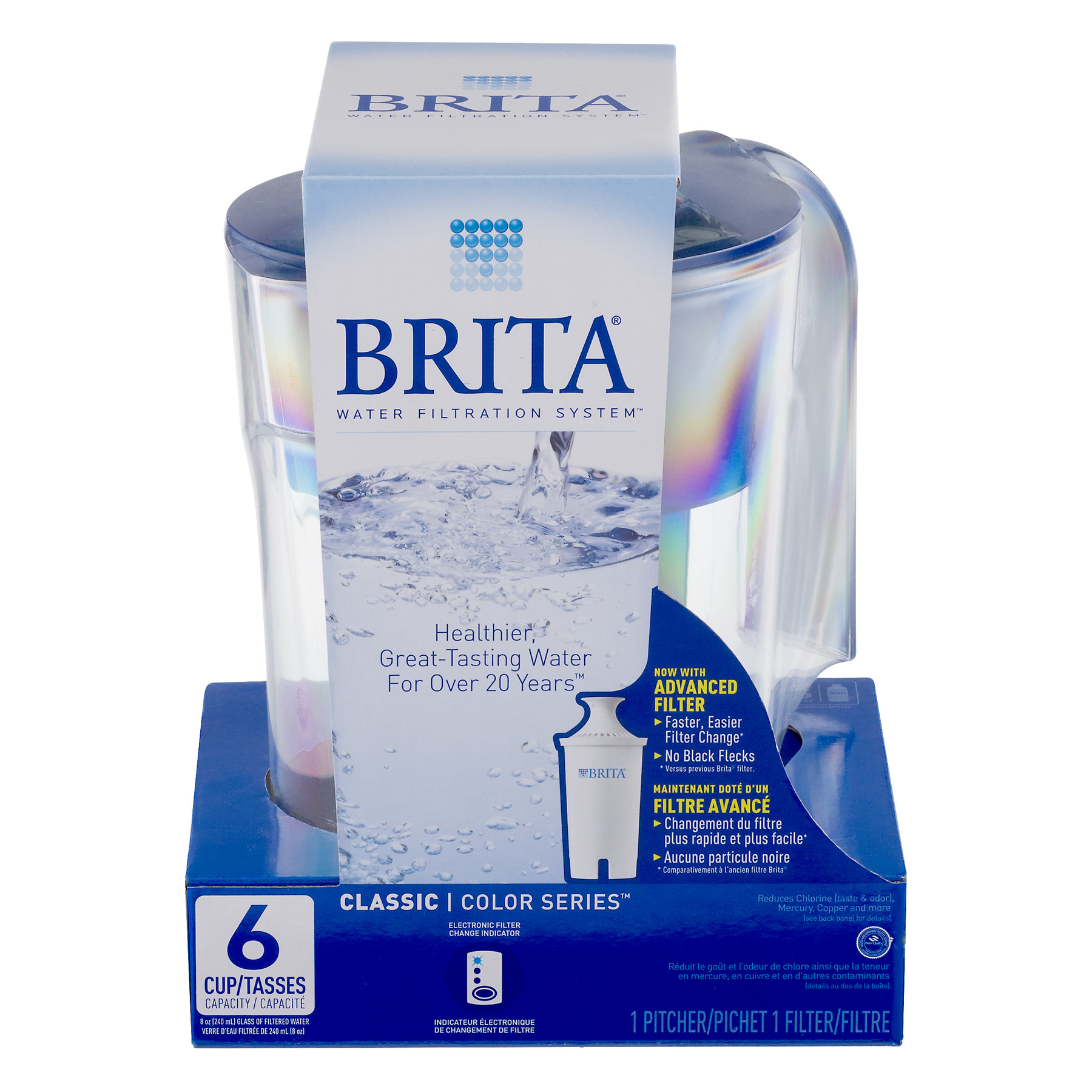 Brita Classic Color Series 6 Cup Pitcher, 1.0 CT