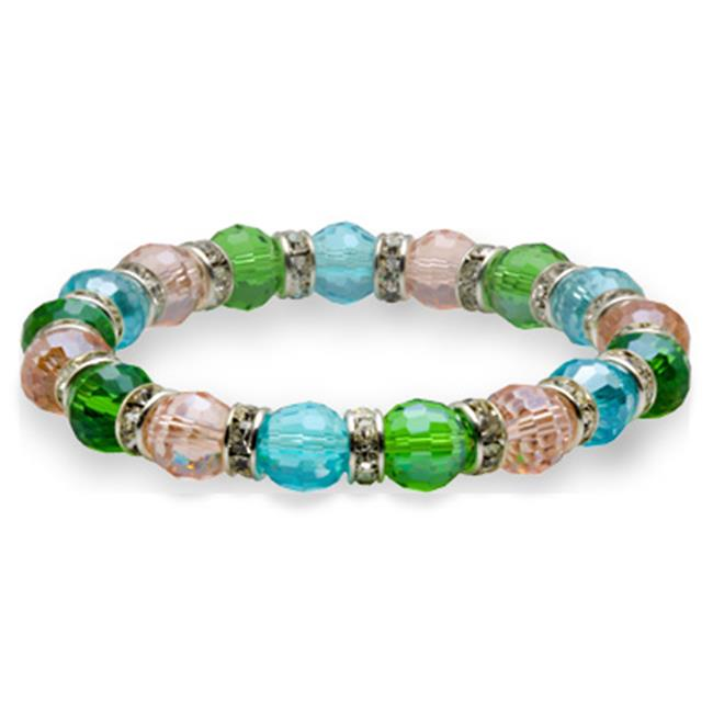 Alexander Kalifano BLUE-BGG-N03 Blue Tag Gorgeous Glass Bracelet - Multi-Colored