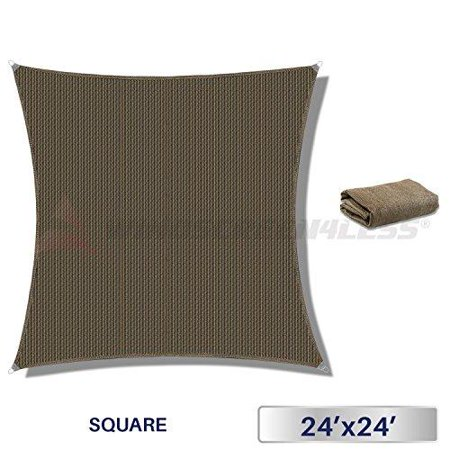 Windscreen4less Metal Spring Reinforcement Large Sun Shade Sail Square Heavy Duty Strengthen Durable Outdoor Canopy