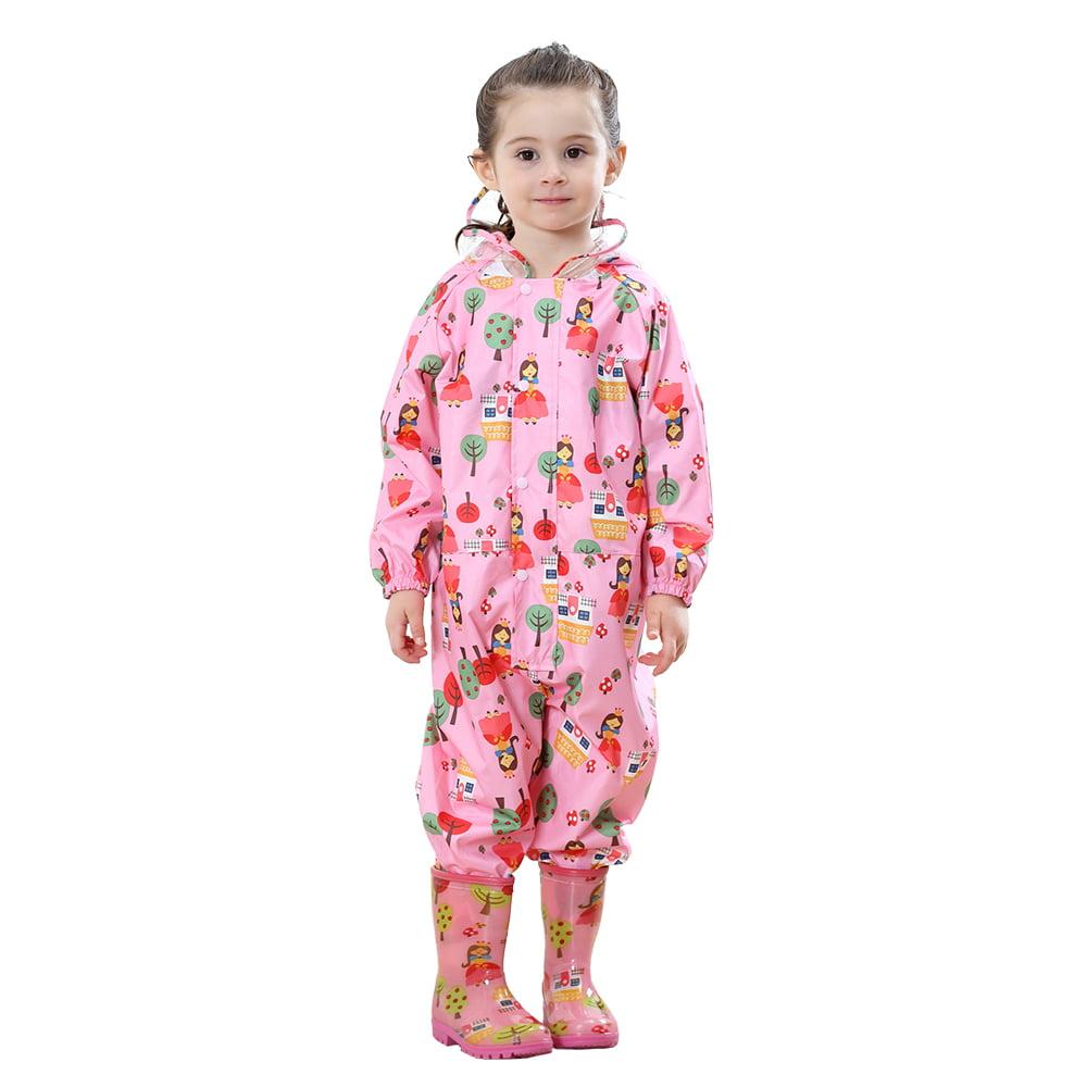 TOPTIE Unisex Baby /& Toddler Rain Pants PU Waterproof Rain Outerwear
