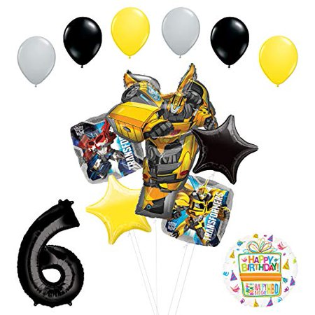 Transformers Mayflower Products Bumblebee 6th Birthday Party Supplies Balloon Bouquet Decorations](Transformer Balloons)