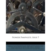 Pioneer Pamphlets, Issue 7
