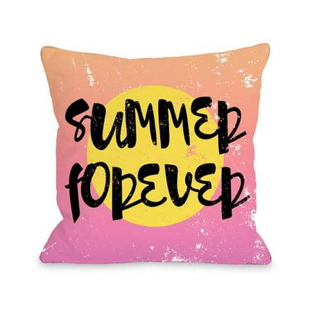 One Bella Casa 73725PL16O 16 x 16 in. Summer Forever Outdoor Pillow, Multicolor - image 1 de 1