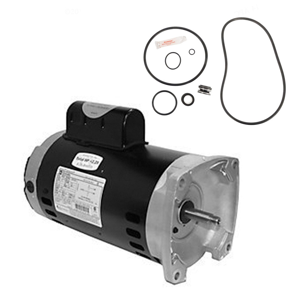 Puri Tech Replacement Motor Kit for Hayward Super Pump 1.5 HP SP2610X15 AO Smith UST1152 w//GO-KIT-3