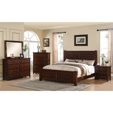 Picket House Furnishings Danner 5 Piece Queen Bedroom Set in Chestnut