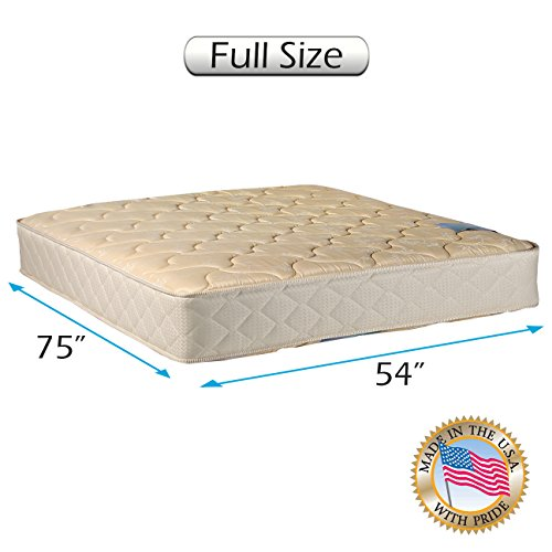 "Chiro Premier Medium Firm Orthopedic (Beige Color) Full size (54""x75""x9"") Mattress Only - Fully Assembled, Back Support System, Superior Quality, Long Lasting and 2 Sided by Dream Solutions USA"