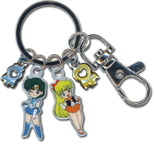 Key Chain - Sailor Moon - New Sailor Mercury & Venus Metallic Anime ge80017