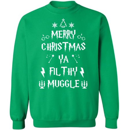 ugly christmas sweatshirt merry christmas ya filthy muggle graphic sweatshirt tops christmas sweater for women christmas