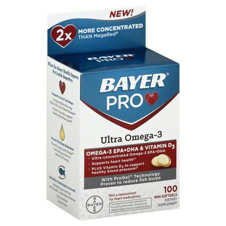 Bayer pro ultra omega 3 dietary supplement mini softgels for Pro omega fish oil