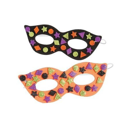 IN-13705461 Glitter Halloween Mask Craft Kit Makes 24