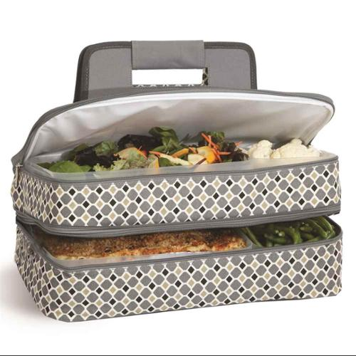 Entertainer Hot and Cold Food Carrier in Mosaic
