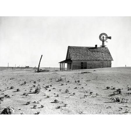 Dust Bowl Farm in Texas Print Wall Art By Bettmann ()