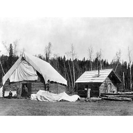 Alaska Log Cabins C1920 Nhomesteader Cabins In Ship Creek Alaska Photograph C1920 Poster Print by Granger Collection Cabin Creek Collection