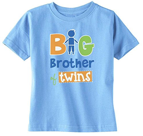 Lil Shirts Big Brother Of Twins Boys Toddler Shirt - Youth Small / Light Blue