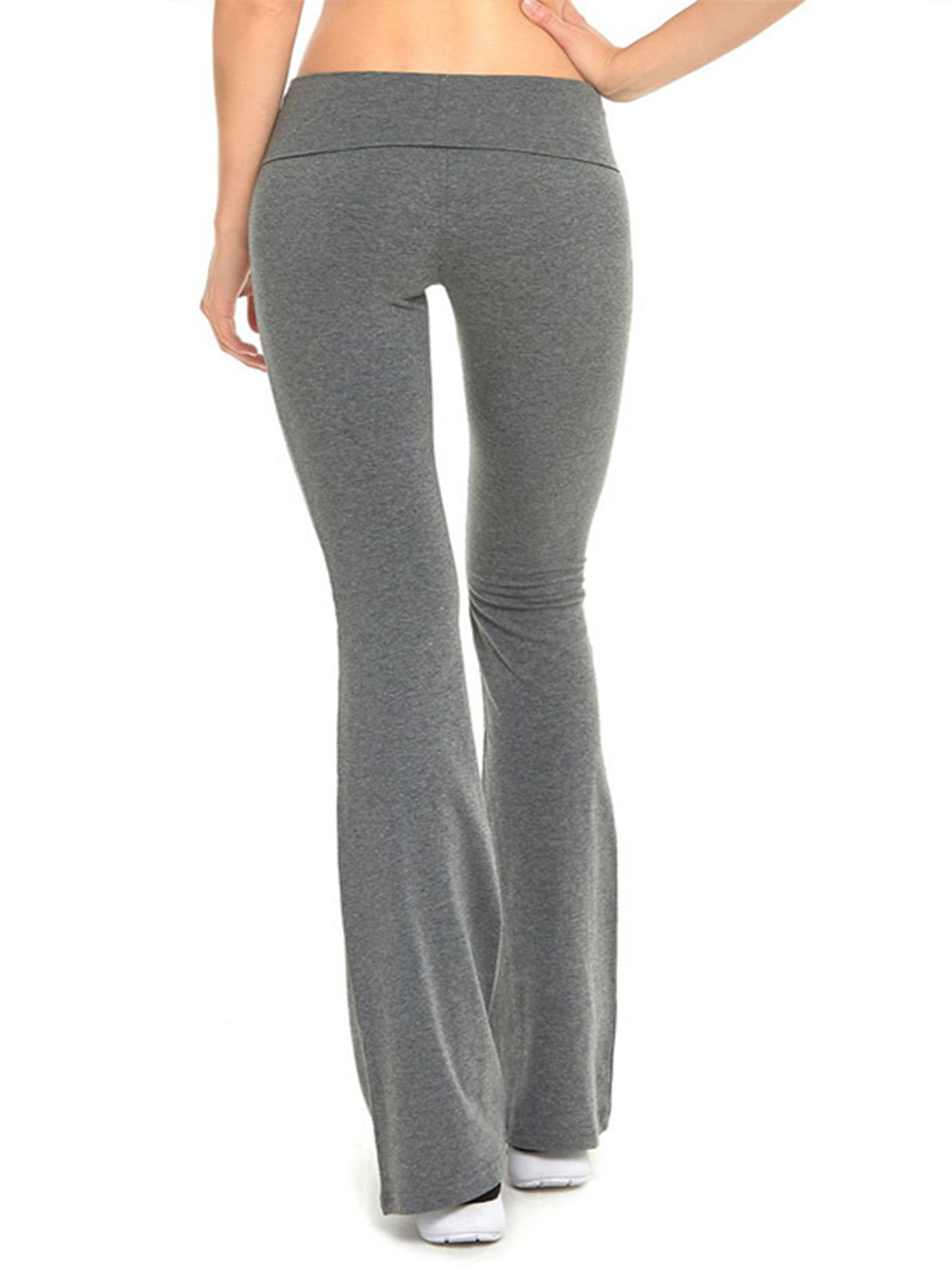 Womens Yoga Pants Bootcut Run Gym Jogger Leggings Flare Trousers Wide Leg Ladies