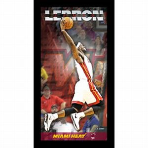 (Cleveland Cavaliers LeBron James Miami Heat Player Profile Wall Art 9.5x19 Framed Photo)