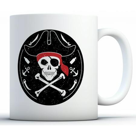 Awkward Styles Jolly Roger Mug Jolly Roger Pirate Crossbones Day of the Dead Mug Cat Mug Party Supplies Dia de los Muertos Skull Gifts Jolly Roger Skull Mug (Dia De Los Muertos Supplies)