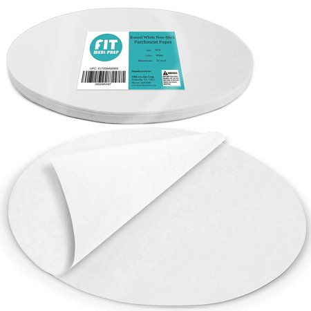 [250 Pack] 10 Inches Non-Stick Parchment Paper - Round White Baking Sheets, Wax Paper Liners for Cake Pan, for Steamer, Fryer and Oven, for Cakes, Cheesecakes, Pizza, Cookies, Meats and Vegetables