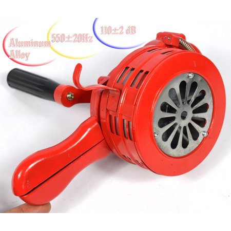 Hand Crank Operated Emergency Alarm Siren Loud110db Aluminum Alloy Free shipping Hand Crank Siren