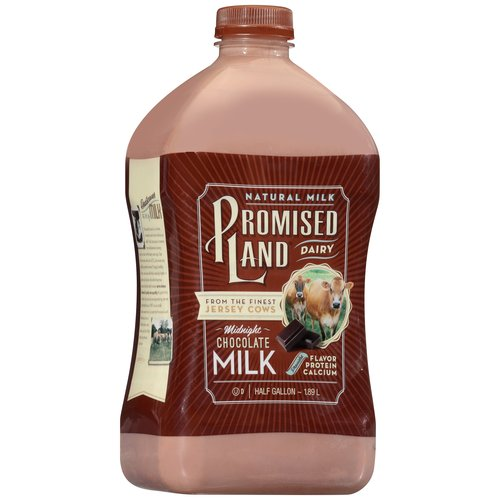 Promised Land Dairy All Natural Midnight Chocolate Milk, Half Gallon