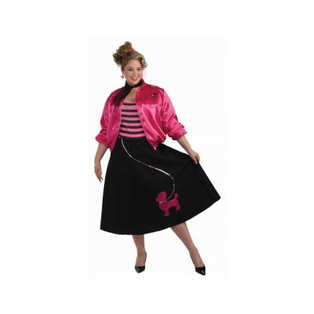 Costumes With Black Skirt (CO-50'S POODLE SKIRT SET-PLUS)
