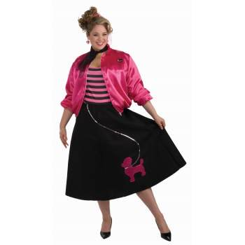 CO-50'S POODLE SKIRT SET-PLUS - Poodle Skirts For Women