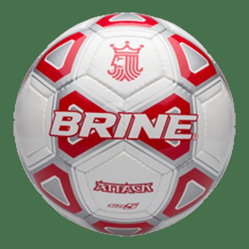 New Brine SBATK1-3SCA Attack Soccer Ball Size 3 Red/Silver/White