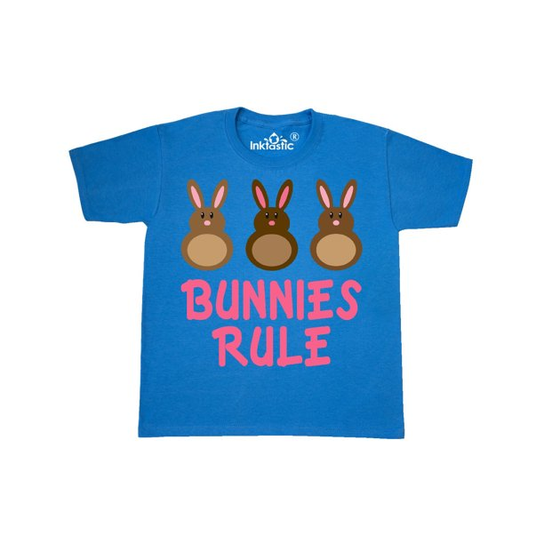 Easter Rabbit Chocolate Bunnies Rule Youth T-Shirt