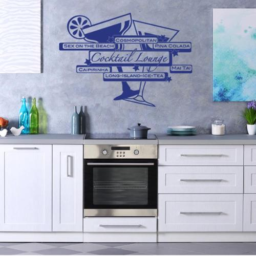 Style and Apply Cocktail Lounge Vinyl Wall Art Decal