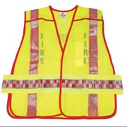 ML KISHIGO 1245/M-XL-USA High Visibility Vest, Class 2, M to XL, Red