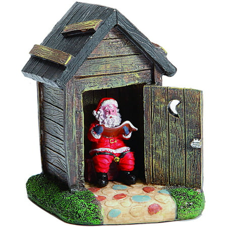 Holiday Time 425 Christmas Village Santa In Outhouse Accessories