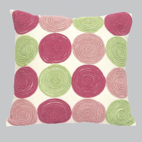 Jubilee Collection 9 Circles Throw Pillow