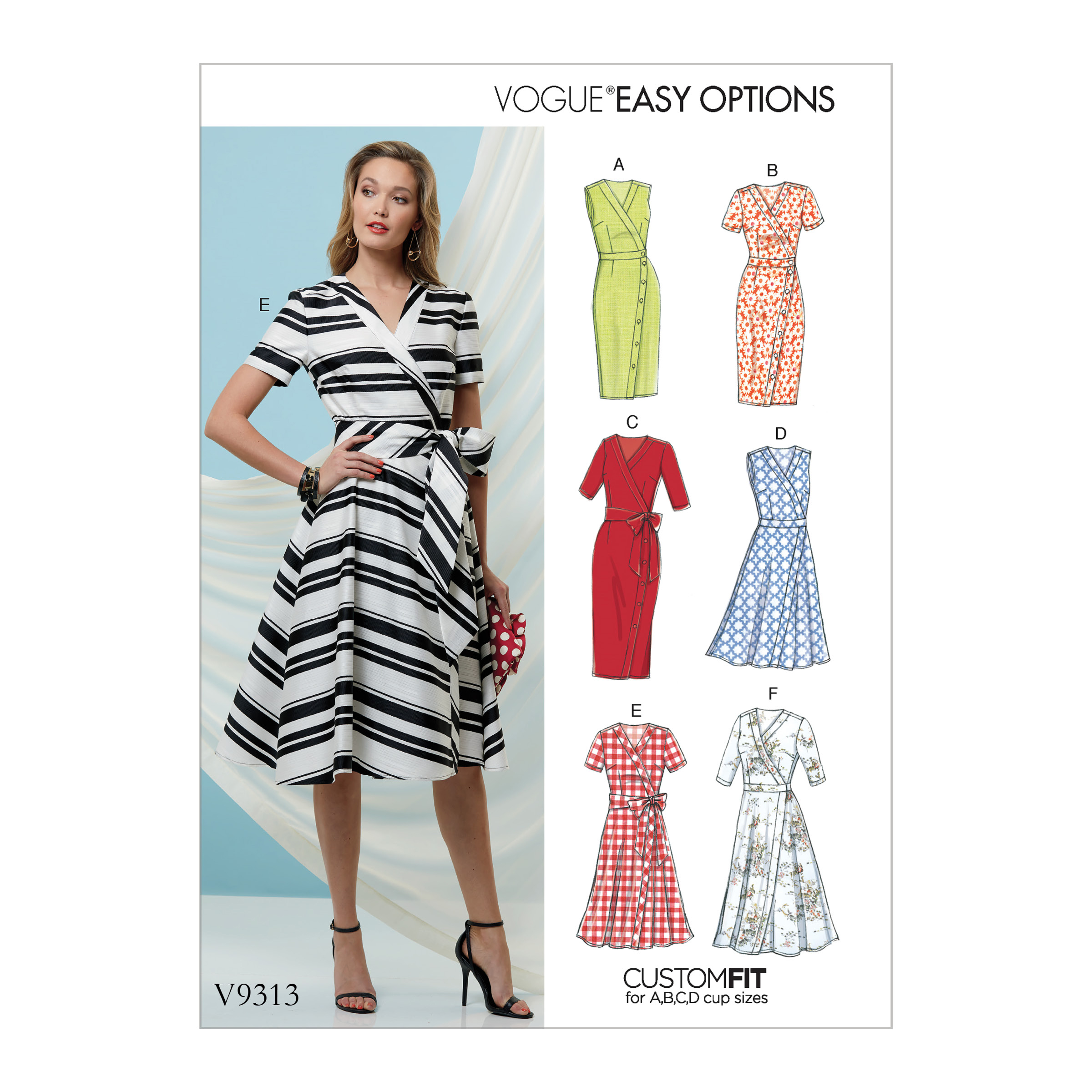 Vogue Patterns Sewing Pattern Misses' Dress and Sash-6-8-10-12-14