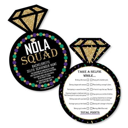 NOLA Bride Squad - Selfie Scavenger Hunt - New Orleans Bachelorette Party Game - Set of - New Orleans Themed Halloween Party