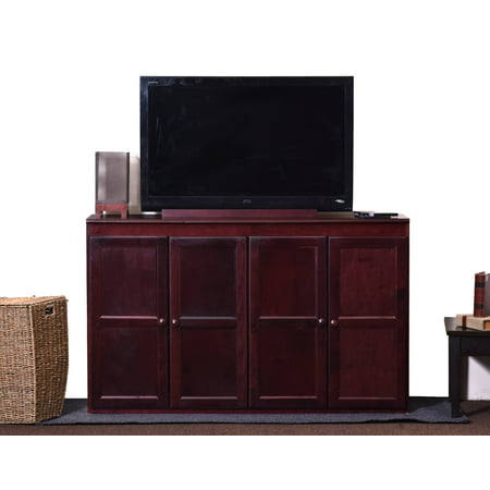 Concepts in Wood 60 inch Storage Console TV Stand/Dining Buffet - Cherry Finish