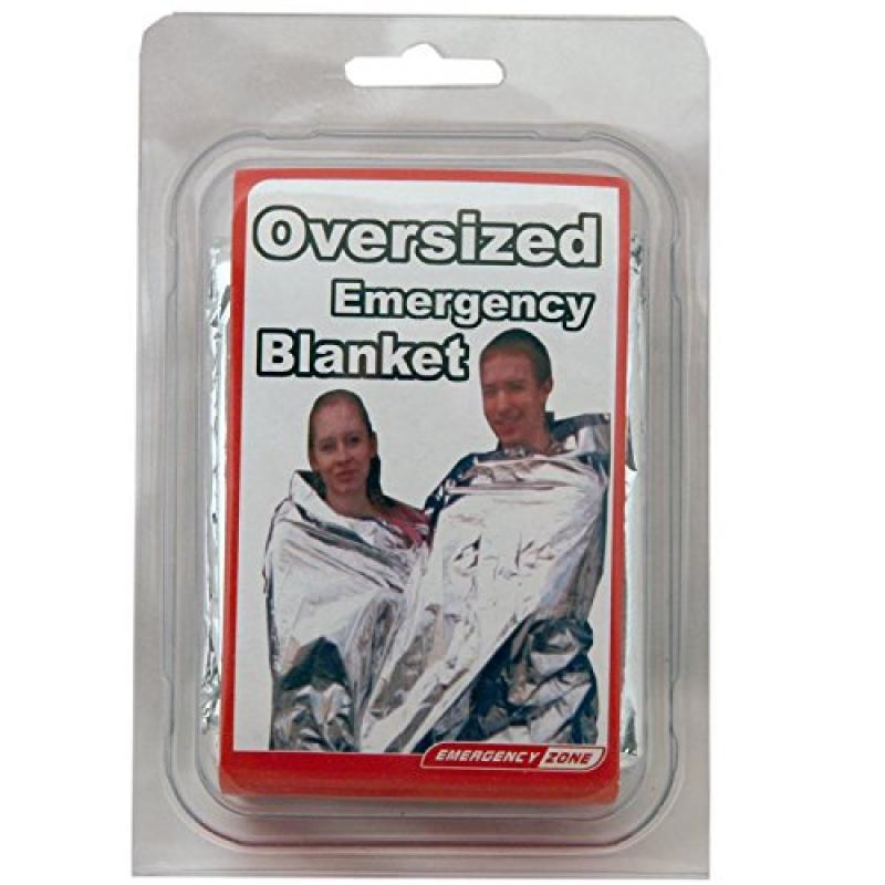 71x142 Inch Oversized Emergency Blanket, Emergency Zone Brand, Reflective Thermal Blanket by Emergency Zone