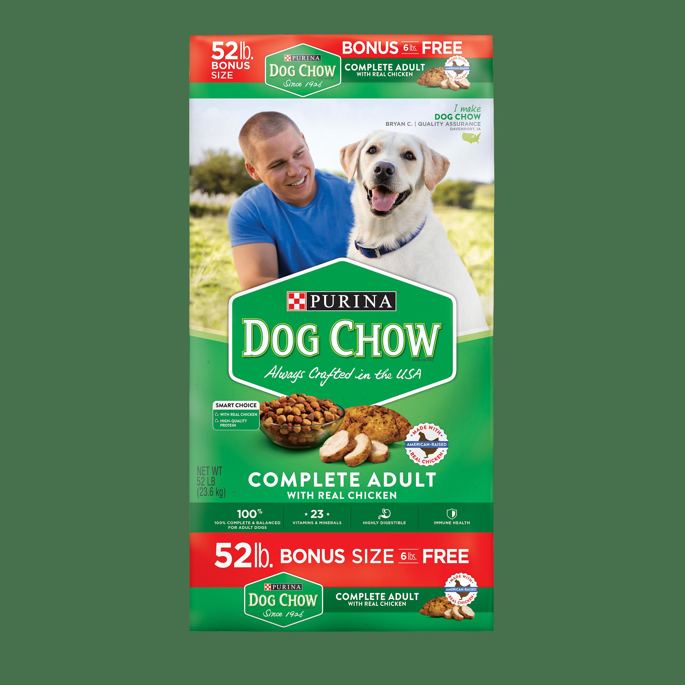 Purina Dog Chow Complete Adult Bonus Size Dry Dog Food, 52