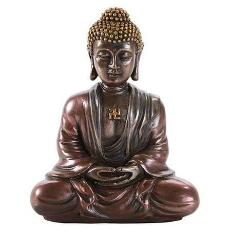 Buddha Head Figurine - Shakyamuni Gautama Buddha Meditation Desktop Figurine Statue 3.15 Inch