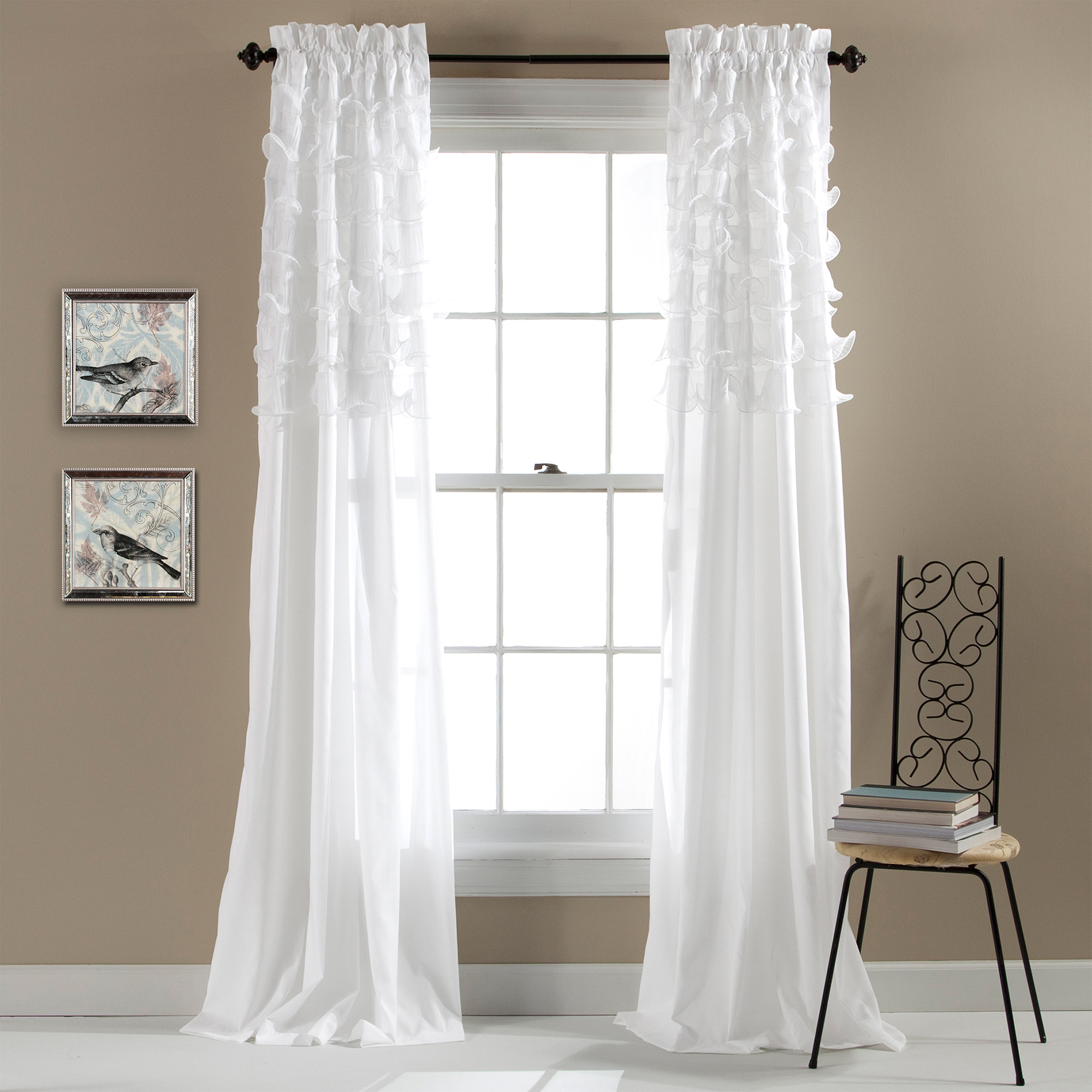 Belle Ivory Window Curtain Walmart Com